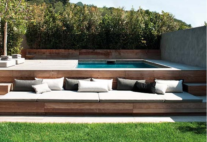 Piscinas on pinterest pools small pools and pool ideas for Decoracion patio con piscina
