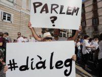 Marchas por el diálogo convocadas por Parlem Hablemos para resolver el problema catalán