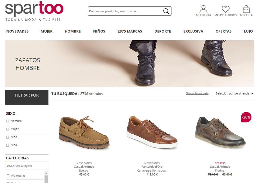 6ac123a5d9 Compra zapatos para hombre en tiendas online especializadas en calzado